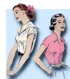 1950s Vintage Butterick Sewing Pattern 7287 Easy Misses Sailor Blouse Size 32 B