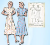 1930s Vintage Butterick Sewing Pattern 7420 Uncut Misses Beginners Dress Size 34 Bust by Vintage4me2