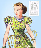 1930s Vintage Butterick Sewing Pattern 7778 Uncut Misses Day Dress Size 34 Bust