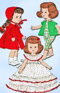 1950s Vintage Butterick Sewing Pattern 7972 8 Inch Ginny Doll Clothes ORIGINAL