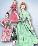 1950s Vintage Butterick Sewing Pattern 8078 Misses Rockabilly Dress Size 14 34B