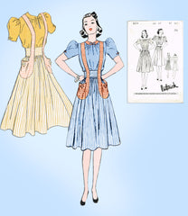 1930s Butterick Sewing Pattern 8274 Uncut Misses Suspender Skirt & Blouse Sz 33B