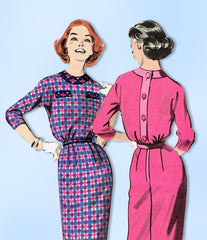 1950s Original Vintage Butterick Pattern 8309 Uncut Misses Easy Dress Size 36 B