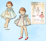 1950s Vintage Butterick Sewing Pattern 8383 Cute Baby Girls Flared Dress Size 1 - Vintage4me2