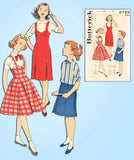 1960s Vintage Butterick Sewing Pattern 8729 Uncut Little Girls Jumper Skirt Sz 8