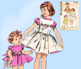 1960s Original Vintage Butterick Pattern 9316 Cute Baby Girls Party Dress Size 4