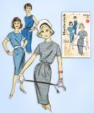 1960s Vintage Butterick Sewing Pattern 9593 Uncut Quick & Easy Dress Sz 32 Bust