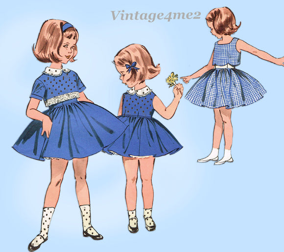 1960s Vintage Butterick Sewing Pattern 9680 Uncut Toddler Girls Dress Size 6