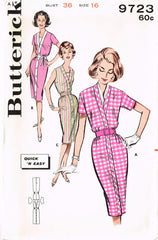 1960s Vintage Butterick Sewing Pattern 9723 Uncut Easy Misses Dress Size 16 36 B