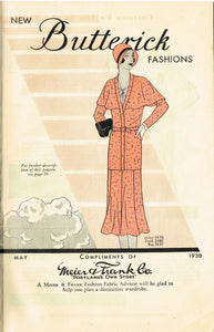 Digital Download Butterick Fashion Flyer May 1930 Small Sewing Pattern Catalog