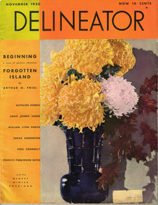 1930s Vintage Butterick Delineator Patterns & Womens Magazine November 1930