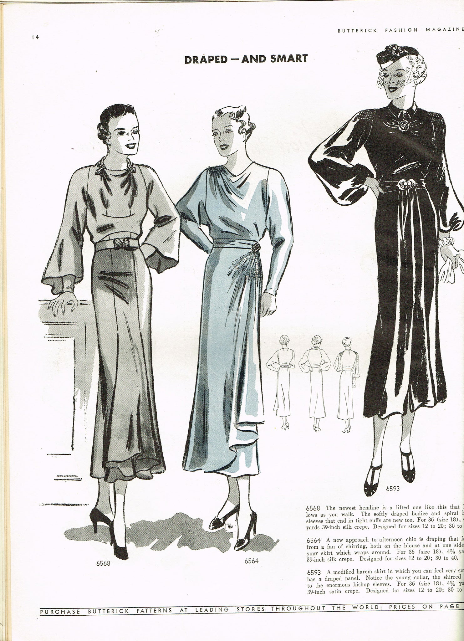 1930s Vintage Butterick Pattern Book Early Spring 1936