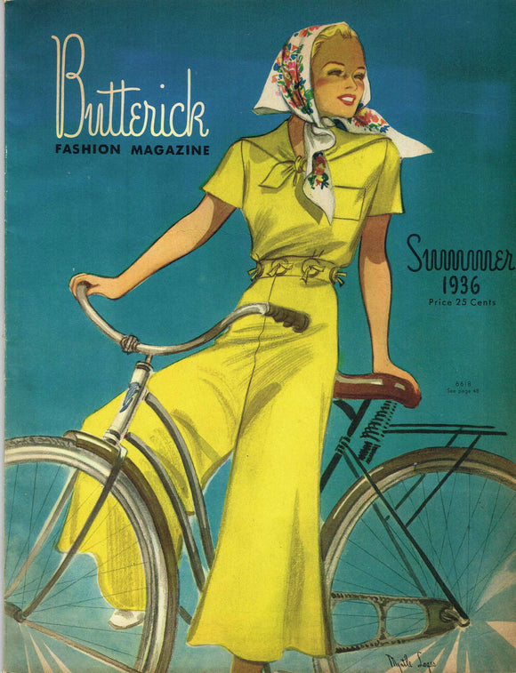 1930s Digital Download Butterick Summer 1936 Fashion Magazine Pattern Book Catalog
