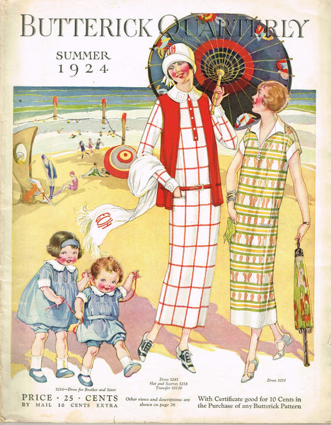 1920s Butterick Summer 1924 Quarterly Pattern Catalog 101 pg Ebook Instant Download - Vintage4me2