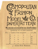 1899 Rare ORIG Victorian Shirt Waist Uncut Cosmpolitan Sewing Pattern 1708 32B - Vintage4me2