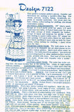 1950s Vintage Design Mail Order Transfer Pattern 7122 Uncut Laundry Bag Doll
