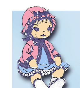 1960s Vintage Design Sewing Pattern 766 Uncut 12 Inch Baby Sock Doll Original