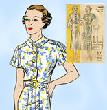 Du Barry 1442: 1930s Misses Afternoon Dress Size 32 Bust Vintage Sewing Pattern - Vintage4me2
