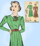 Du Barry 1853: 1930s Misses Princess Dress Size 32 Bust Vintage Sewing Pattern - Vintage4me2