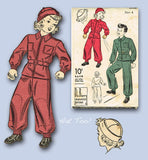 1940s Vintage Du Barry Sewing Pattern 2350 WWII Toddlers Snowsuit & Hat Size 4 -Vintage4me2