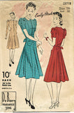 1940s Vintage Du Barry Sewing Pattern 2371 Misses Street Dress Size 14 32B ORIG - Vintage4me2