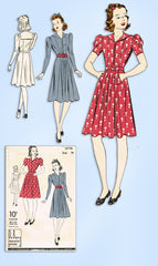 1930s Vintage Du Barry Sewing Pattern 2379 Misses WWII Sailor Dress Size 32 Bust
