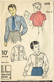 1940s Vintage Du Barry Sewing Pattern 2457 Toddler Boys Button Up Shirt Sz 4 - Vintage4me2
