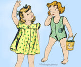 Du Barry 2758: 1930s Toddler Girls Romper & Dress Size 1 Vintage Sewing Pattern