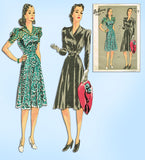 1940s Vintage Du Barry Sewing Pattern 5045 Uncut Misses Tailored Dress Size 38 B