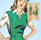 1940s Vintage Du Barry Sewing Pattern 5301 Uncut WWII Skirt & Jerkin Sz 36 Bust