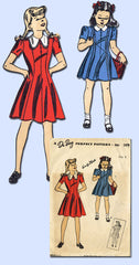 1940s Vintage Du Barry Sewing Pattern 5479 Easy WWII Toddler Girls Dress Sz 6 FF - Vintage4me2