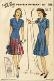 1940s Vintage Du Barry Sewing Pattern 5606 Misses WWII Tailored Suit Size 14 32B - Vintage4me2