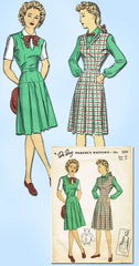 1940s Vintage Du Barry Sewing Pattern 5694 Uncut WWII Misses Suit Size 16 34 B - Vintage4me2