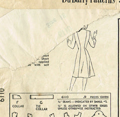 1940s Vintage Du Barry Sewing Pattern 6110 Uncut Misses Princess Dress Size 36 B