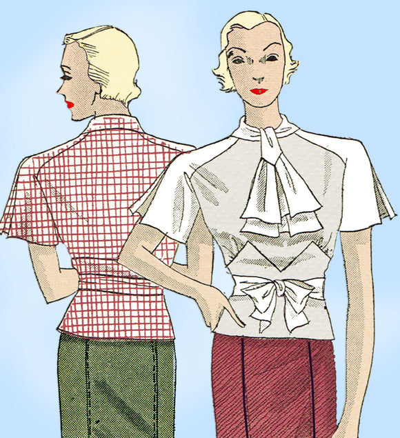 Du Barry 765: 1930s Stylish Misses Skirt & Blouse Sz 36 B Vintage Sewing Pattern - Vintage4me2