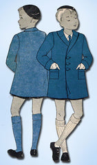 1930s Vintage Du Barry Sewing Pattern D463 Toddler Boys Lined Coat Size 4 - Vintage4me2