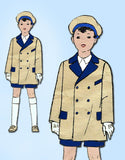 1920s Vintage Excella Sewing Pattern 2242 Toddler Boys Reefer Coat Size 2 - Vintage4me2