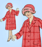 1920s Vintage Excella Sewing Pattern 912 Toddler Girls Single Breasted Coat Sz 4 - Vintage4me2