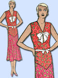 1930s Vintage Excella Sewing Pattern 3152 Misses Depression Dress Size 16 34B - Vintage4me2