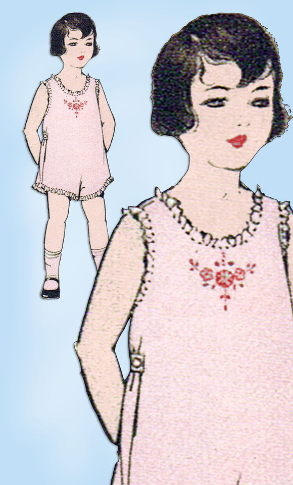 1920s Vintage Excella Sewing Pattern 2419 Baby Girls Combination Underwear Sz 2 -Vintage4me2