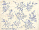 1930s Uncut Good Needlework Embroidery Transfer October 1931 Pansy Floral Motifs