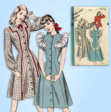 1940s Vintage Hollywood Sewing Pattern 1876 Uncut Misses Princess Dress Sz 32 B