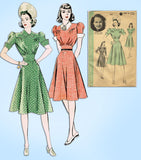 1940s Vintage Hollywood Startlet Sewing Pattern 422 Uncut Misses Dress Size 34 B
