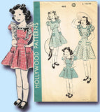 1940s Vintage Hollywood Sewing Pattern 462 Uncut Girls WWII Party Dress Size 6 - Vintage4me2
