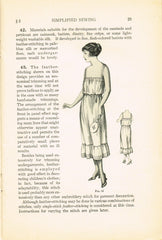 1920s Brooks Picken Woman's Institute Sewing Book 402 Simplified Sewing 1922 Ed