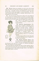 1920s Mary Brooks Picken Woman's Institute Sewing Book 410 Children's Garments