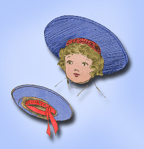 1910s Vintage Ladies Home Journal Sewing Pattern 2498 Toddler Girls Sailor Hat