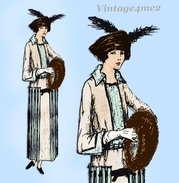 Ladies Home Journal 2749: 1920s Uncut Designer Dress 34B Vintage Sewing Pattern