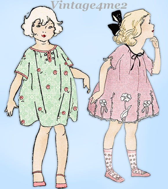 Ladies Home Journal 3591: 1920s Cute Baby Girls Dress Sz2 Vintage Sewing Pattern