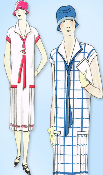 1920s Vintage Ladies Home Journal Sewing Pattern 5014 Uncut Flapper Dress Sz 36B